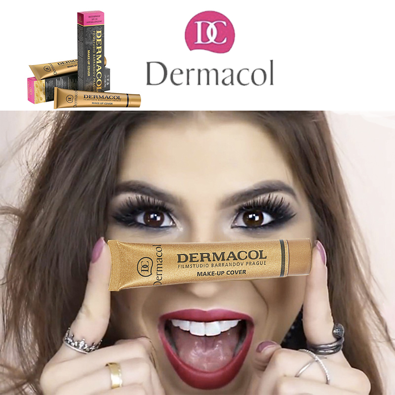 Base Dermacol make up Cover Freckles Acne Dermacol Foundation Corretivo Cream Dropshipping Suppliers USA Pro Concealer Primer