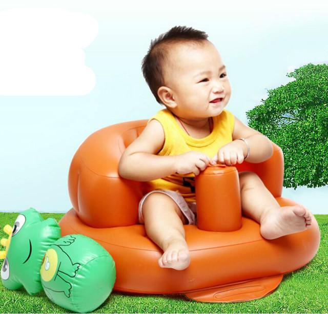 O mais novo da Chegada Do Bebê Jogando Cadeira Inflável Sofá Sofá Espessamento Fezes De Banho Bonito multi-função Mini-Portátil T01
