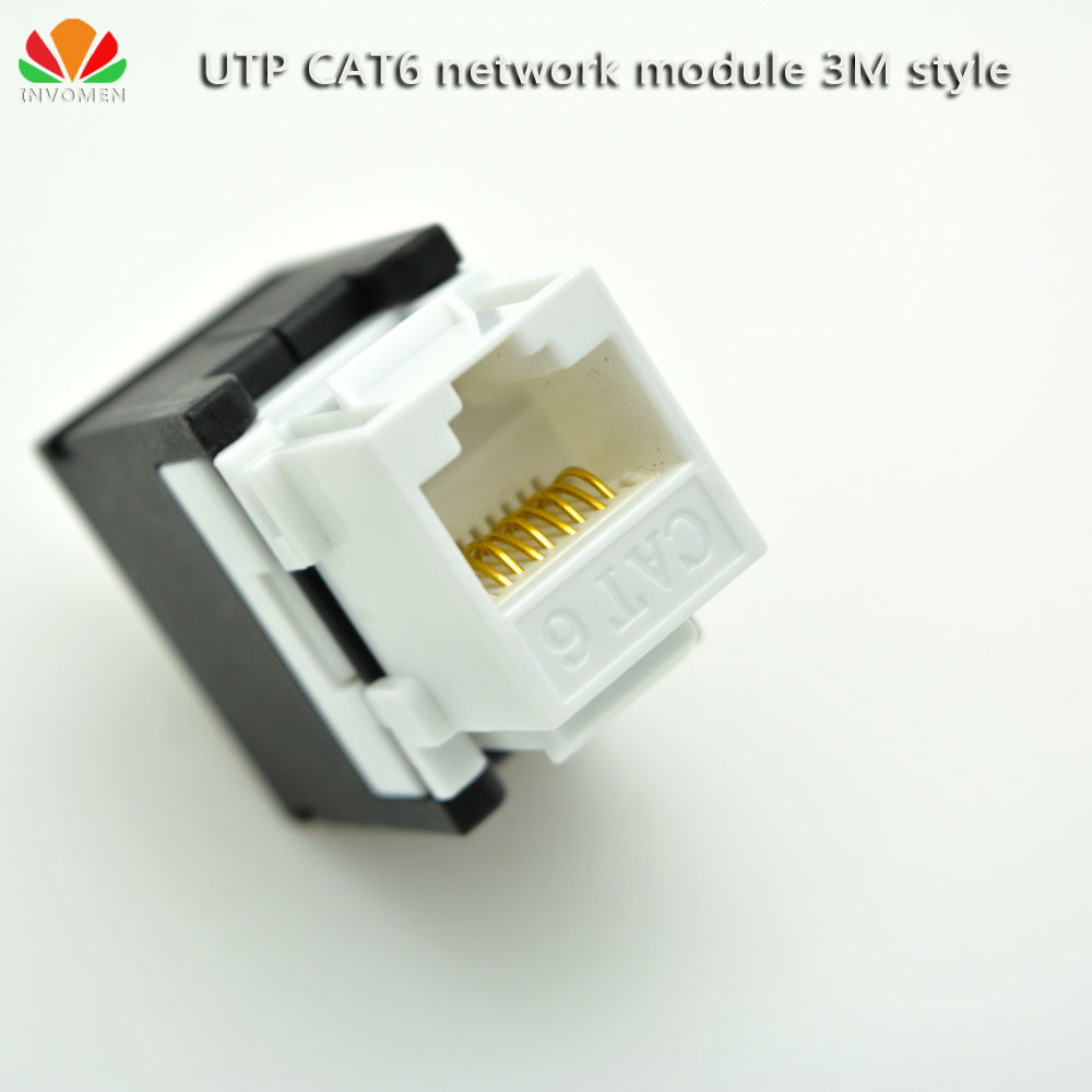 Online Shop Utp Cat6 Network Module 3m Style 180 Tool Free Wire Rj45 Keystone Jack Wiring Connector Gold Plated