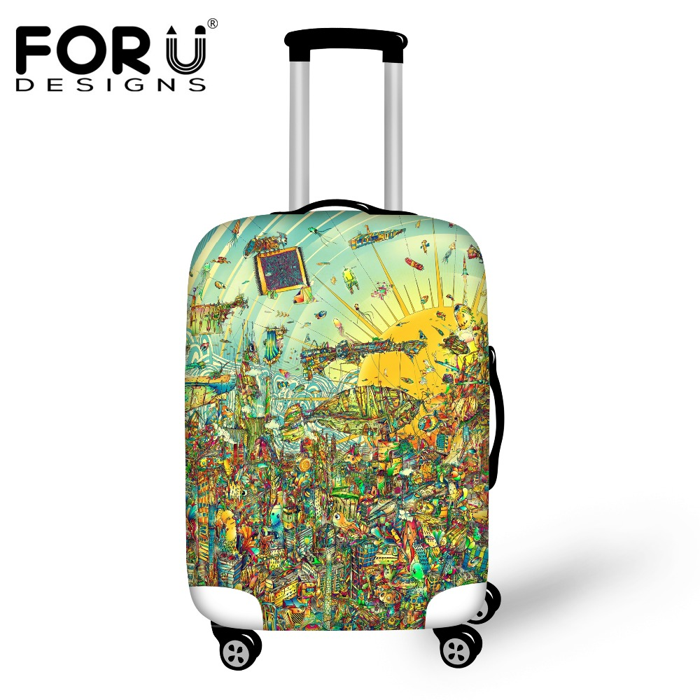 FORUDESIGNS 2019 Luggage Protective Cover For 18/20/22/24/26/28/30inch Suitcase Waterproof Rain Cover Elastic Travel Accessories