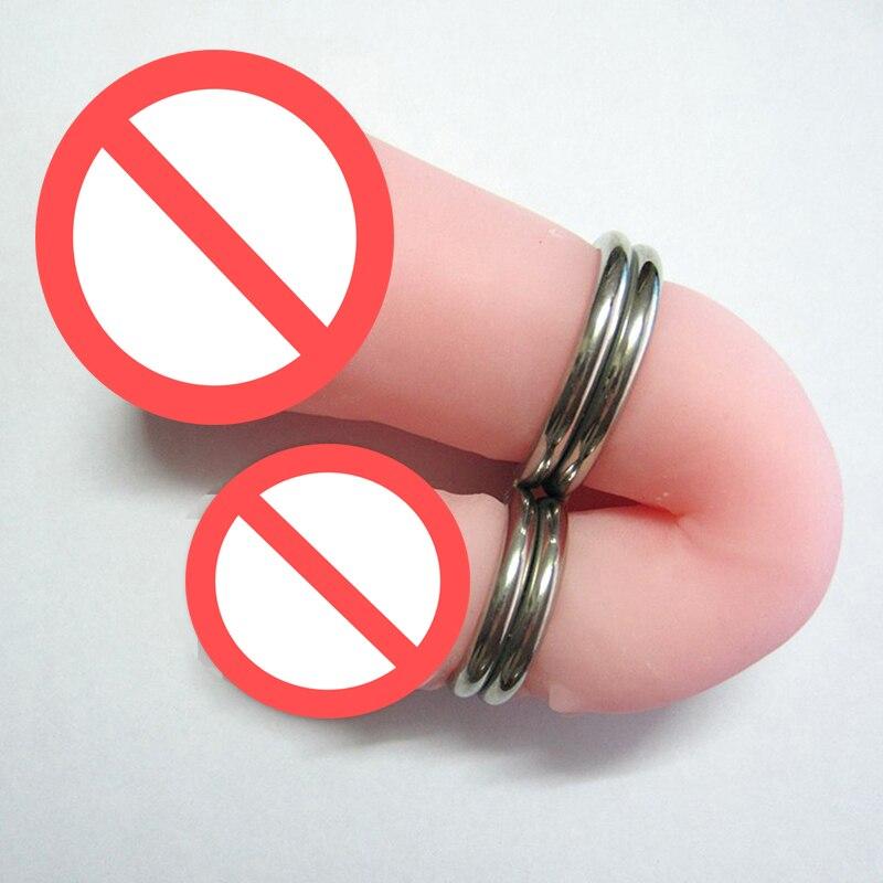 ᐅ8 fuentes Siamés acero pene prevenir erección sexo Juguetes para ...
