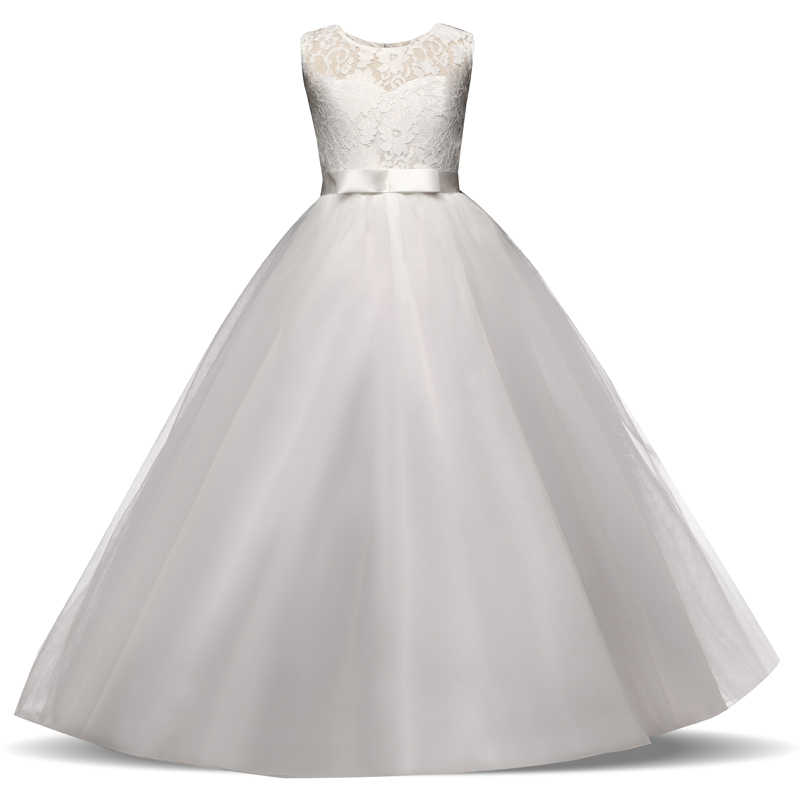 Vestidos De Encaje Para Niñas Ropa De Verano Para Fiesta Vestido De Princesa Para Niños 5 6 8 9 12 14 Años Vestido De Cumpleaños