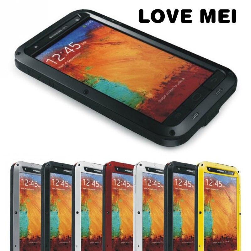 LOVEMEI etuis en aluminium antichocs résistant à la saleté avec verre gorille pour Sumsang Galaxy Note 3 N9000 Protection robuste