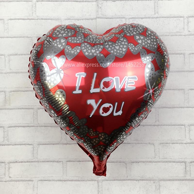 XXPWJ Free shipping 5pcs / lot18 inch I LOVE YOU heart-shaped balloon wedding ma