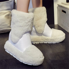 Fashion Fur Decor Luxury Women Winter Warm Snow Boots Furry Wedge Shoes Woman Platform Ankle Botas Thick Heel Wedges