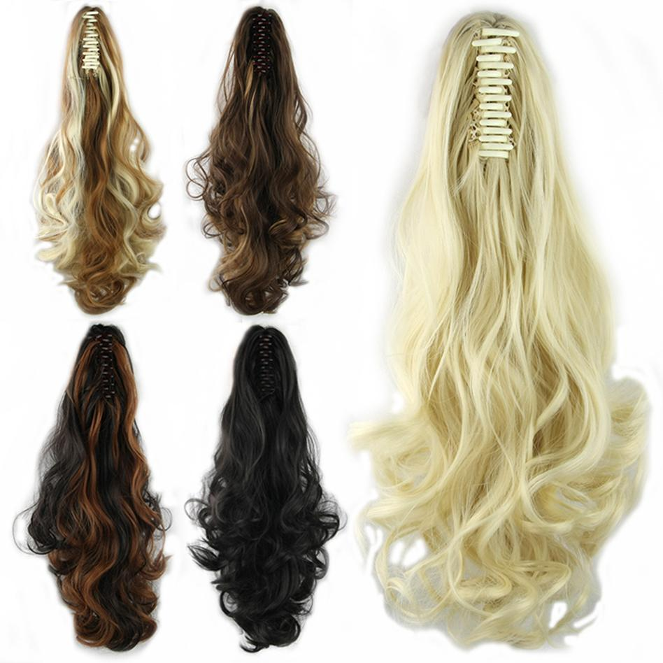 Soowee Long High Temperature Fiber Hair Pieces With Clip Claw