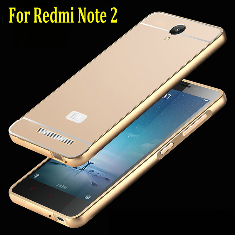 brand new 9d371 3dfd6 US $5.19 |2015 New Xiaomi Redmi Note 2 Back Cover Case & Aluminum Metal  Frame Set Hot Phone Bag Cases for Xiaomi Redmi Note2 on Aliexpress.com | ...