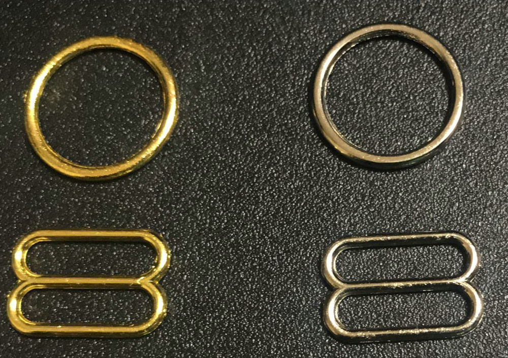 Various Size Of Bra Rings And Sliders 50 Sets / Lot (100 Pcs) In  Gold Free Shipping