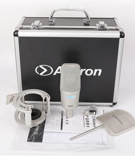 Alctron TH600 große membran professional studio aufnahme kondensator mic für gesangs aufnahme, bühne leistung, live übertragung
