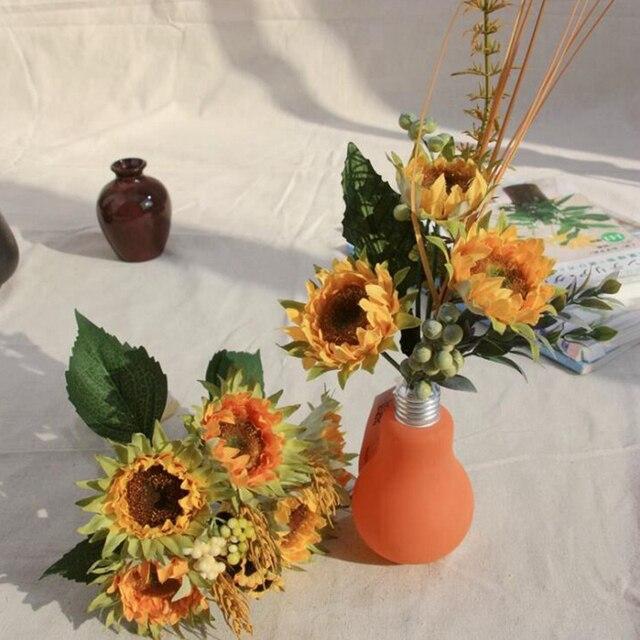 Sunflower Hochzeitsstrauss Brautstrauss Seide Blumenschmuck