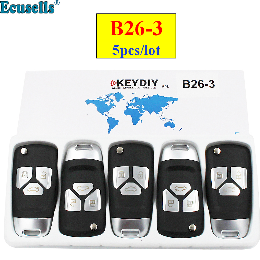 5pcs lot KEYDIY B series B26 3 3 button universal KD remote control for KD200 KD900