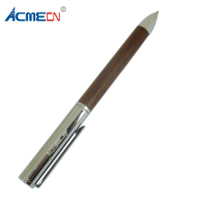 ACMECN Unisex Metal & Wood Ballpoint Pen Novelty Design Twist Slim Silver and Walnut Crafts Gifts Hand-Made Luxury Wooden Pens