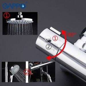 Image 5 - GAPPO grifos de ducha para bañera mezclador de baño de Grifo de ducha de baño termostático montado en la pared, conjunto de ducha de lluvia