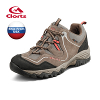 Shipped From USA Warehouse 2016 Clorts Mens Hiking Shoes Waterproof Outdoor Shoes Cow Suede For