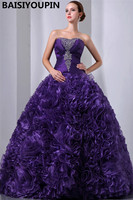 Роскошные бальные платья 2019 Vestidos De Festa 15 Anos Фиолетовый органза бальное платье платья для Бала маскарада