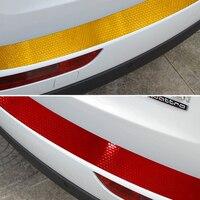 Reflective Warning Conspicuity Sticker For VW Volkswagen Jetta Golf 7 Car Rear Bumper Scuff Protective Sill