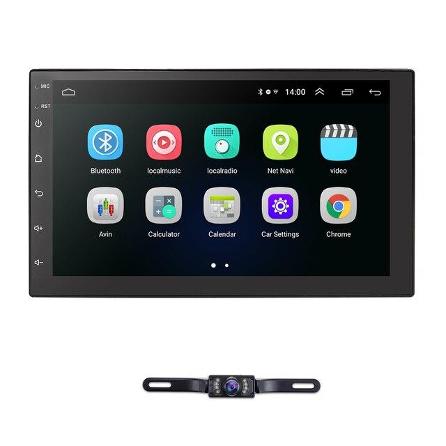 """New Universal 2 Din 7 """"Multimídia Carro Auto rádio da tela de Toque GPS Bluetooth Estéreo USB FM DVR TPMS OBD2 câmera de Backup gratuito"""