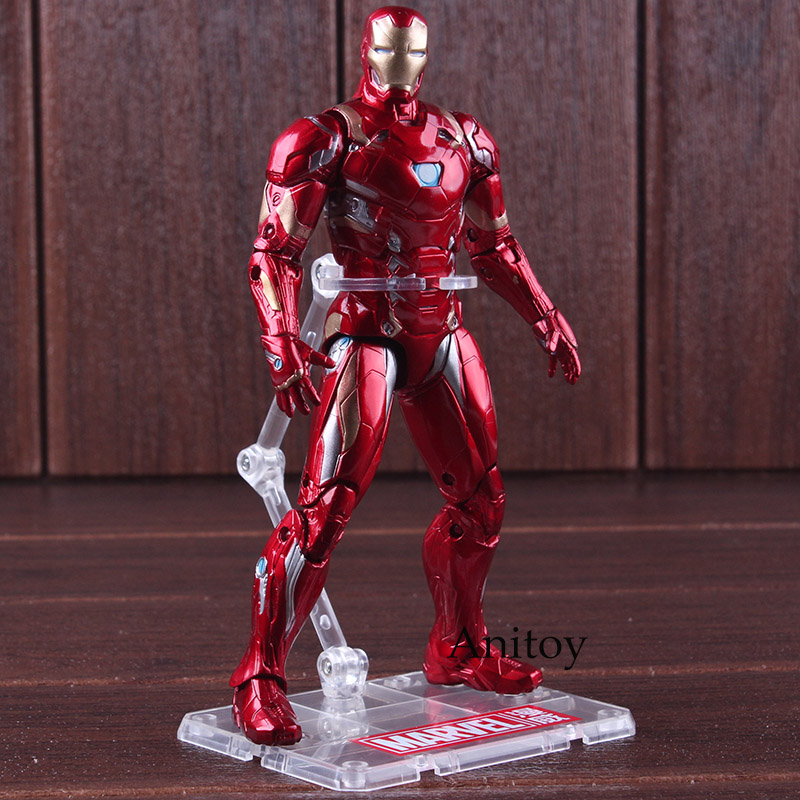 Captain American Civil War Iron Man Figure Action PVC Marvel Avengers Toys Figure Collectible Model Toy 17.5cm image
