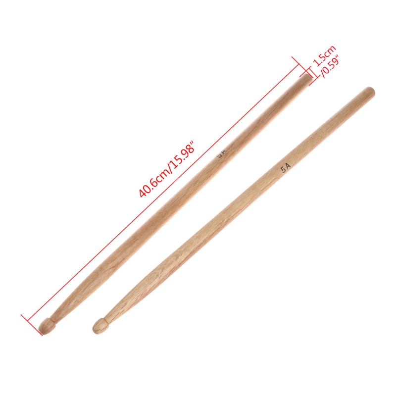 1Pair 5A Oak Wood Durable Drumstick Kid Jazz Drum Sticks Electronic Drums Stick