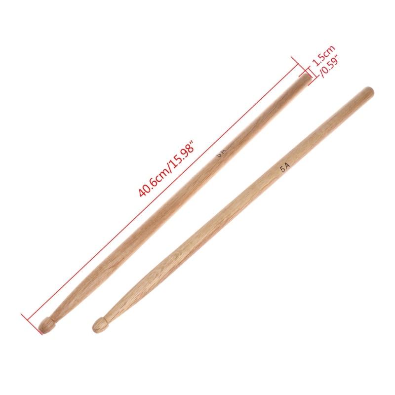 1Pair 5A Oak Wood Durable Drumstick Kid Jazz Drum Sticks Electronic Drums Stick