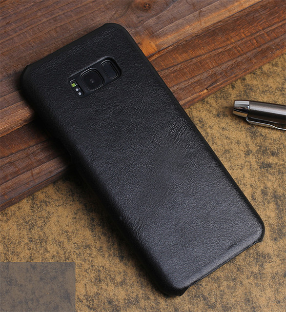 online retailer 1efda 0f3ec US $8.68 |Luxury brand genuine leather back cover case For samsung galaxy  s8 plus phone cases and covers s8+ shell-in Fitted Cases from Cellphones &  ...
