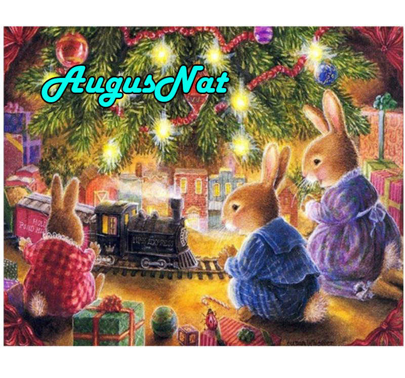 Conejos pintura de diamantes navidad regalo daimond tren diamant borderie plein puzzle imagen diamante bordado pegatinas