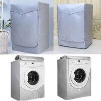 Rolo De Máquina De Lavar à prova d' água Sólida Com Zíper Guarda Capa de Proteção Capa de Poeira Quente|Capa p/ máquina de lavar roupa| |  -