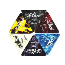 Lots of 100pcs Alice AP-L Celluloid Sharpe Triangle Guitar Picks Plectrums 6 Thickness Assorted
