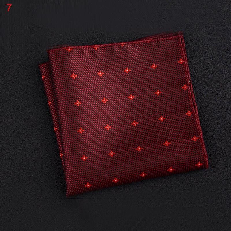 New Hot Polyester Square Towel Trendy Wedding Banquet Handkerchief Gentleman Suit Pocket Hanky YAA99
