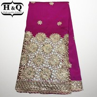 Newest Special Design Gold Sequin George Lace Fabric Embroidered High Quality Silk African George Lace Fabric