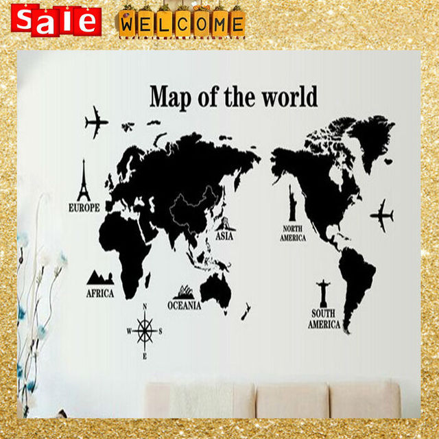 120x60cm finish on wall size world map paper posters wall 120x60cm finish on wall size world map paper posters wall sticker home decoraction art gumiabroncs Gallery