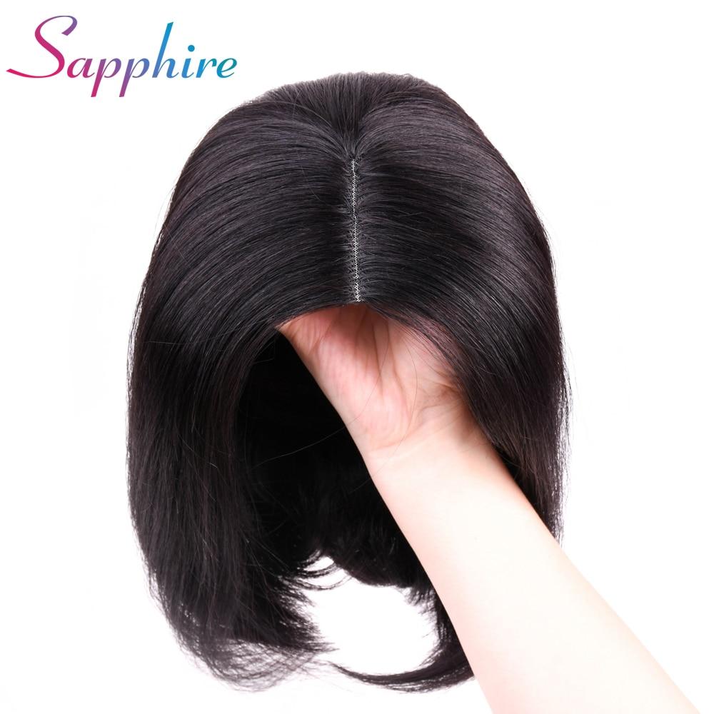SAPPHIRE 100 Non Remy Hair Brazilian Straight Hair Wig Short Bob Wig Human Hair Wigs Pre