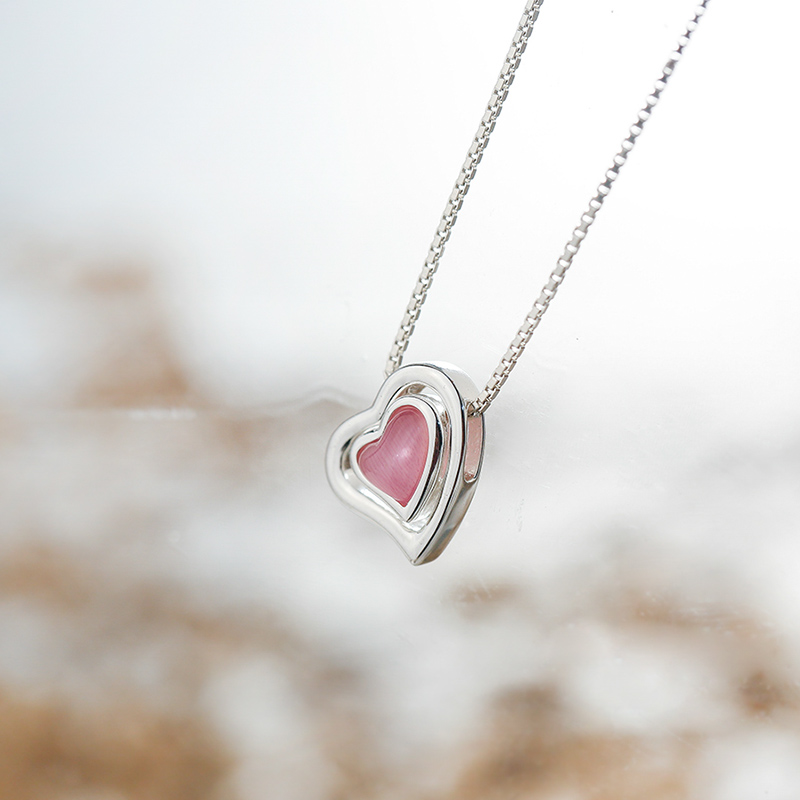 Aliexpress buy sa silverage silver chain necklace pink aliexpress buy sa silverage silver chain necklace pink gemstone heart pendant real pure 925 sterling silver necklace for women accessory from reliable mozeypictures Image collections