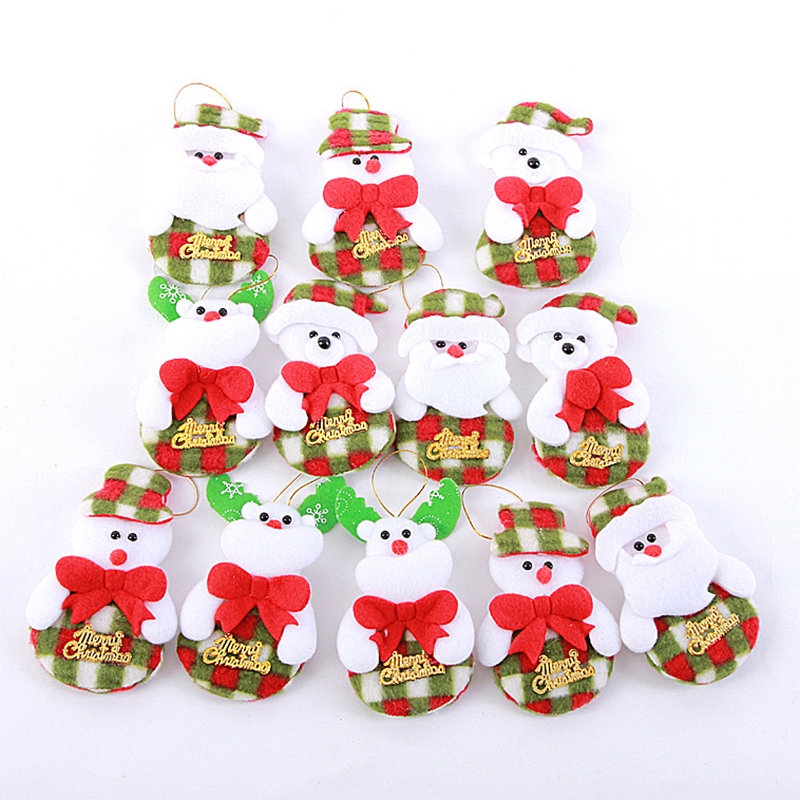 2016 Cute Cartoon Cloth Santa Claus Christmas Tree