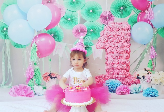 Mehofoto First Birthday Photo Party Backdrops For Photography Newborn Balloons Paper Flower Backgrounds Studio