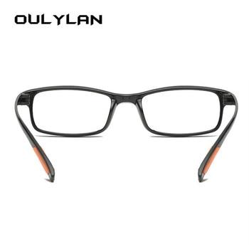 Oulylan TR90 Glasses Reading Glasses Men Women Classic HD Ultra-light Resin For Female Male Reading Presbyopic Glasses +1.0 3.0