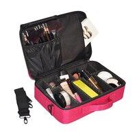 Sサイズ多層化粧品袋プロの多機能女性男性化粧箱ポータブルアメニティショルダーケースアクセサリー
