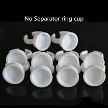 500 Pcs No Separator Permanent Makeup Easy Ring Ink Container Cup Eyeliner, Lip