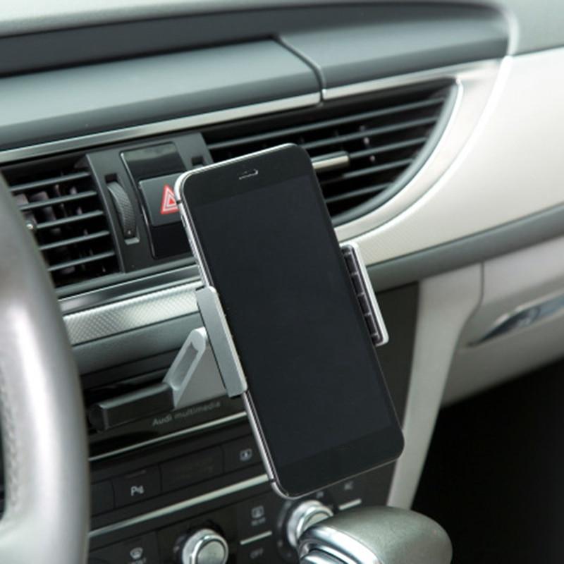 Hell Aluminium Auto Slot Halterung Cradle Halter Universal Handy Ständer Halter Halterung Für Iphone X Für Samsung Gps Auto Halter GroßEs Sortiment