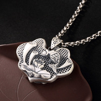 925 Silver Pendant Matte Antitque Amulets And Talismans Gifts For Women Fine Jewelry Pendule