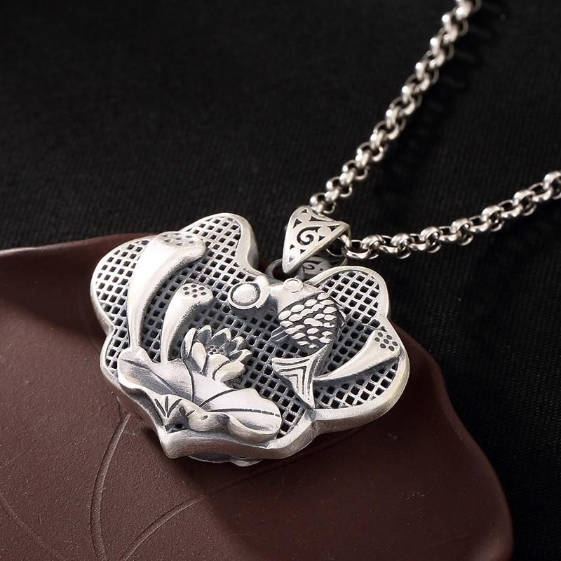 925 pendentif en argent mat Antitque amulettes et Talismans cadeaux pour femmes bijoux fins Pendule