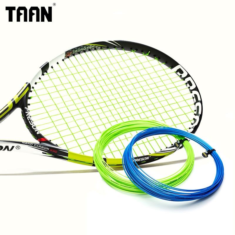 200M Original TAAN Brand 1 Reel Tennis String High Flexibility Power Circumrotate Tennis Racket Line T6 free shipping geo synthetic hexagonal nylon soft tennis racket string reel tsb 03