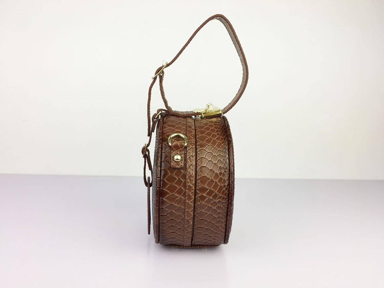 2019 осенняя и зимняя новая кожаная сумочка маленькая круглая сумка замок одно плечо сумка мягкая однотонная Модная элегантная сумка мессенджер - 3