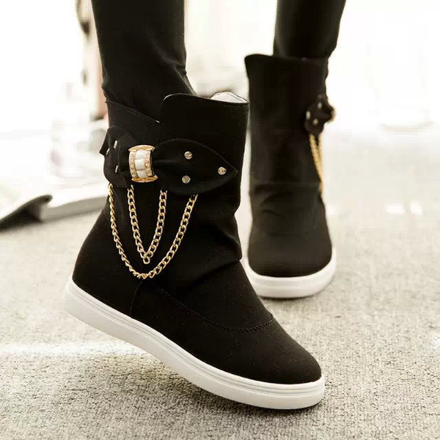 boots high top shoes ladies