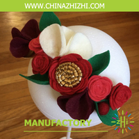 christmas product High Quality New Design Popular Cheap Felt Flower Hair Accessoies best seller of kids