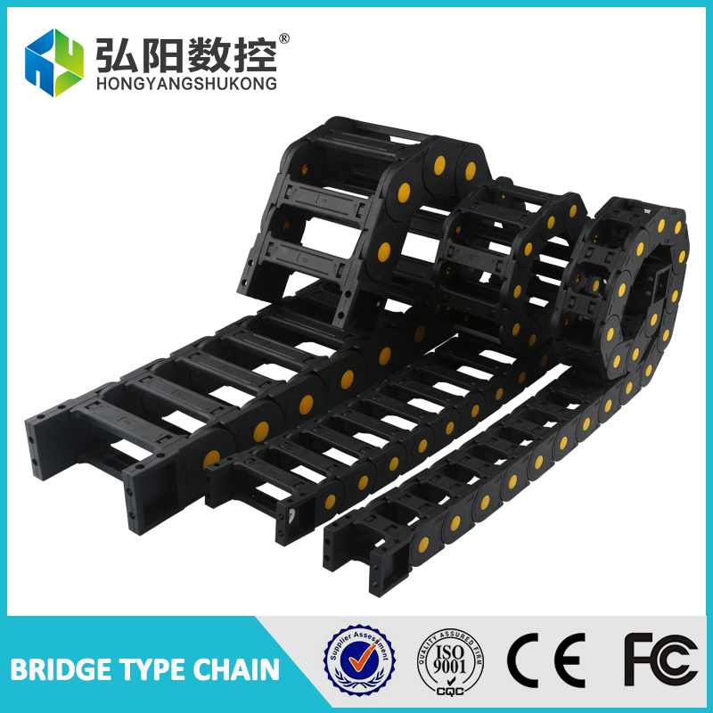 Cable drag chain wire carrier 35 x 50mm 35 x 60mm 35 x 75mm 35*100mm drag link with end connectors plastic towline CNC Router 1M 1m total closed type 25 x 38mm cable drag chain wire carrier with end connectors plastic towline for cnc router machine tools