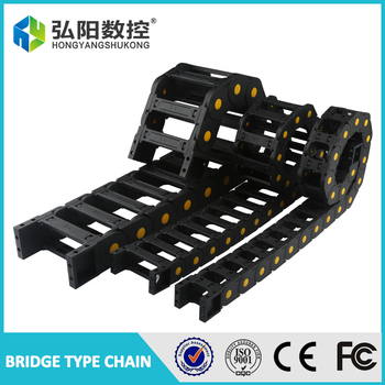 Cable drag chain wire carrier 35 x 50mm 35 x 60mm 35 x 75mm 35*100mm drag link with end connectors plastic towline CNC Router 1M image
