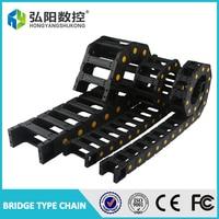 Cable portador del alambre de cadena de arrastre 35x50mm 35x60mm 35x75mm 35*100mm barra de acoplamiento con conectores de extremo de cable de remolque plástico CNC Router 1 M