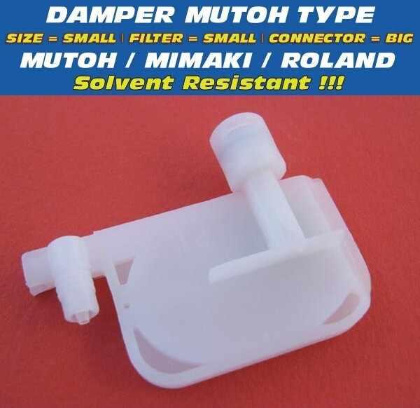 Damper kompatibel untuk roland sp540 sp300 printer dx4 printhead kecil filter dasar pelarut roland sp540 peredam pelarut tahan