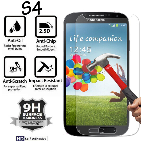 9H Hardness 2.5D For Samsung S4 GT-I9500 I9505 I9506 Tempered Glass Film For Samsung Galaxy S4 Screen Protector Protective Glass